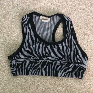 Other - Zebra print sports bra